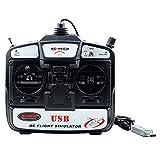 BEETEST USB RC 6 canales avión vuelo simulador simulación Control remoto de helicóptero RC aviones no tripulados