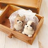 """Hamanaka wool felt kit """"Shiba Inu & Shih Tzu"""" H441-341 (japan import)"""